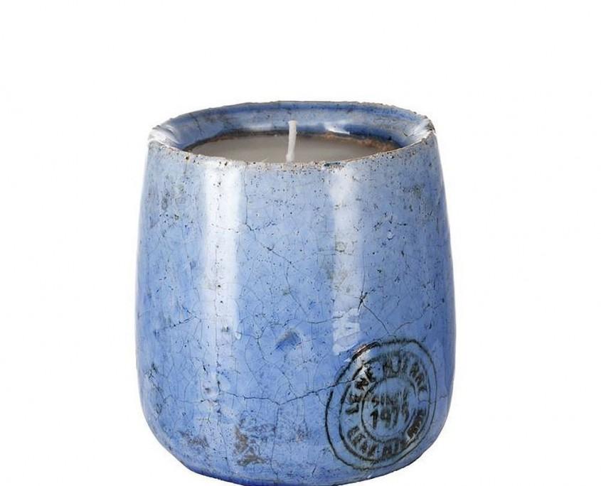 Kerzenpott blau